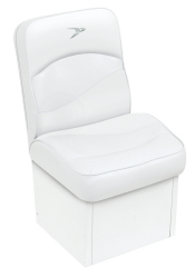 Jump Seat Contemporary Series, White - Wise Boat Seats