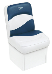 Jump Seat Contemporary Series, White-Blue - Wise Boat Seats