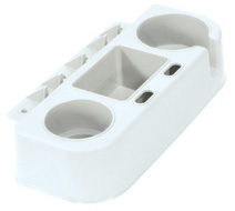 Boat Seat Cup Holder and Gear Caddy, White - Wise Boat Seats