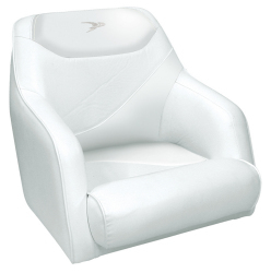 Traditional Style Bucket Seat Contemporary Series, White - Wise Boat Seats
