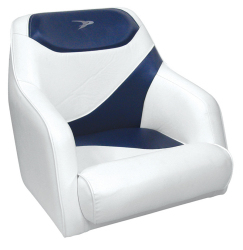 Traditional Style Bucket Seat Contemporary Series, Blue-White - Wise Boat Seats