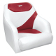 Traditional Style Bucket Seat Contemporary Series, Red-White - Wise Boat Seats