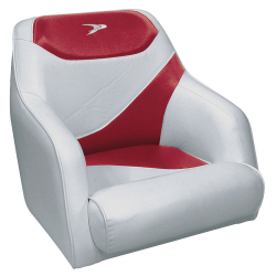 Traditional Style Bucket Seat Contemporary Series, Gray-Red - Wise Boat Seats