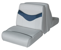 Bayliner Capri and Classic Back-to-Back Lounge Seat, Gray-Blue - Wise Boat Seats