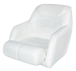 Bucket Seat 1205 with Arms and Flip-Up Bolster, White - Wise Boat Seats