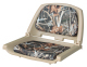 Camouflage Molded Plastic Seat, Advantage Max 4 Cushions on Tan Shell - Wise Boat Seats
