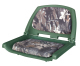 Camouflage Molded Plastic Seat, Mossy Oak Break-Up Cushions on Green Shell - Wise Boat Seats