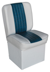 Jump Seat Deluxe Runner, Gray-Navy - Wise Boat Seats