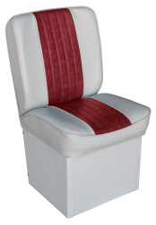 Jump Seat Deluxe Runner, Gray-Red - Wise Boat Seats