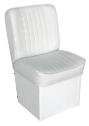Jump Seat Deluxe Runner, White - Wise Boat Seats