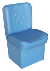 Jump Seat Deluxe Runner, Light Blue - Wise Boat Seats