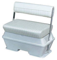 Offshore Swingback 70 Quart Cooler Seat, White - Wise Boat Seats