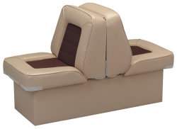 Back-to-Back Lounge Seat Deluxe Skyline, Sand-Brown - Wise Boat Seats