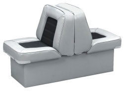 Back-to-Back Lounge Seat Deluxe Skyline, Gray-Charcoal - Wise Boat Seats