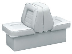 Back-to-Back Lounge Seat Deluxe Skyline, White - Wise Boat Seats