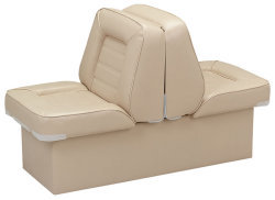 Back-to-Back Lounge Seat Deluxe Skyline, Sand - Wise Boat Seats