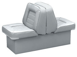 Back-to-Back Lounge Seat Deluxe Skyline, Gray - Wise Boat Seats