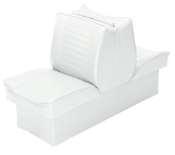 Back-to-Back Lounge Seat Deluxe Plus, White - Wise Boat Seats