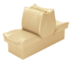 Back-to-Back Lounge Seat Deluxe Plus, Sand - Wise Boat Seats