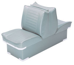 Back-to-Back Lounge Seat Deluxe Plus, Gray - Wise Boat Seats