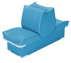 Back-to-Back Lounge Seat Deluxe Plus, Light Blue - Wise Boat Seats