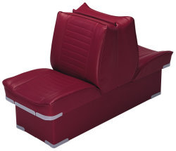 Back-to-Back Lounge Seat Deluxe Plus, Red - Wise Boat Seats