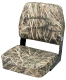 Camo Low Back Fold-Down Hunting & Fishing Seat, Camouflage Grass - Wise Boat Seats