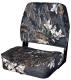 Camo Low Back Fold-Down Hunting & Fishing Seat, Camouflage Break Up - Wise Boat Seats