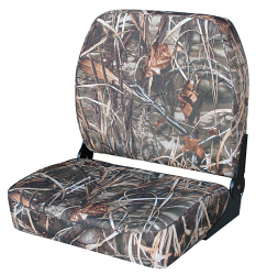 Camo Big Man Fold-Down Hunting & Fishing Seat, Camouflage MAX-4 - Wise Boat Seats