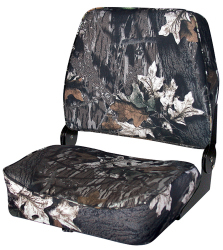 Camo Big Man Fold-Down Hunting & Fishing Seat, Camouflage Gray Tones Break up - Wise Boat Seats