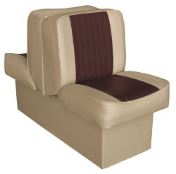 Back-to-Back Lounge Seat Deluxe Runner, Sand-Brown - Wise Boat Seats