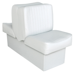 Back-to-Back Lounge Seat Deluxe Runner, White - Wise Boat Seats