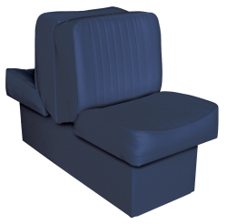 Back-to-Back Lounge Seat Deluxe Runner, Navy - Wise Boat Seats
