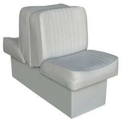 Back-to-Back Lounge Seat Deluxe Runner, Gray - Wise Boat Seats