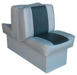 Back-to-Back Lounge Seat Deluxe Runner, Gray-Charcoal - Wise Boat Seats