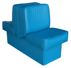 Back-to-Back Lounge Seat Deluxe Runner, Light Blue - Wise Boat Seats