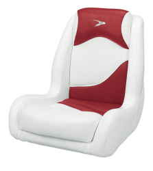 Bucket Seat Contemporary Series Recargo Style, Red-White - Wise Boat Seats