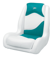 Bucket Seat Contemporary Series Recargo Style, White-Teal - Wise Boat Seats