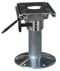 "12"" Fixed Height Locking Seat Pedestal with Fore and Aft Slide - Wise Boat Seats"