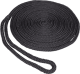 "3/8""x15' Multifilament Polypropylene Pre-Sliced Double Braid Dock Line, Black, 10"" Eye Splice - Seasense"