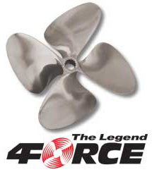 "4-Force 4-Blade 14 x 16 L 1-1/8"" Bore - OJ Propellers"