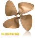 "4-Force 4-Blade 13 x 14 L 1-1/8"" Bore - OJ Propellers"