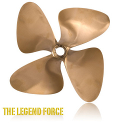 "4-Force 4-Blade 13 x 14 L 1"" Bore - OJ Propellers"