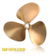 "XMP 3-Blade 13 x 12 LC 1-1/8"" Bore .090 Cup - OJ Propellers"