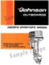 1971 Johnson Outboard Service Manual M_7110 - Ken Cook Co.