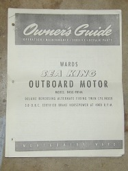Montgomery Ward - Sea King Outboard Owner's and Parts Manual M487 - Ken Cook Co.