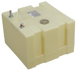 """15 Gallon Permanent Boat Fuel Tank, 18.5""""L X 17.75""""W X 12.5""""H - Moeller"""
