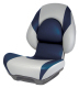 Centric II SAS Boat Seat with Lock-Down Button, Gray & Blue - Attwood