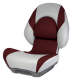 Centric II Boat Seat, Gray & Burgundy - Attwood