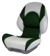 Centric II Boat Seat, Gray & Green - Attwood